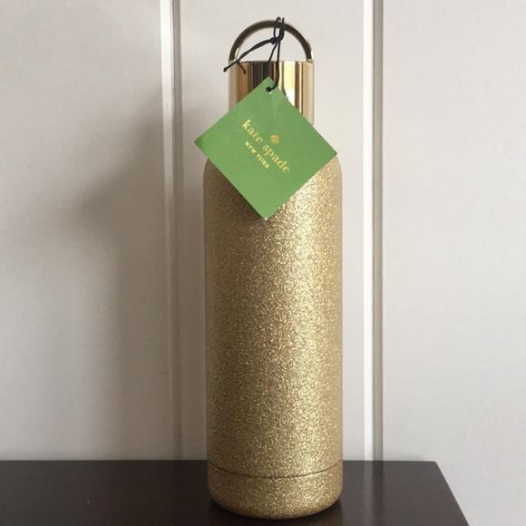 Kate Spade ♠️ Gold Glitter Tumbler.  NWT